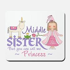 Unicorn Princess Middle Sister Mousepad