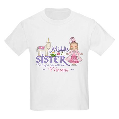 Unicorn Princess Middle Sister Kids Light T-Shirt