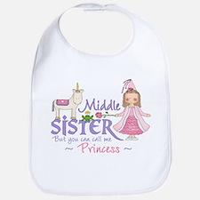 Unicorn Princess Middle Sister Bib