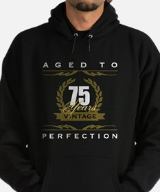 Vintage 75th Birthday Hoodie (dark)