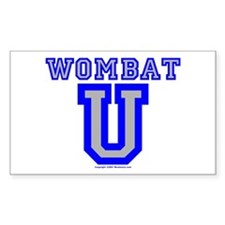 Wombat U VI Rectangle Decal