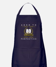Vintage 80th Birthday Apron (dark)