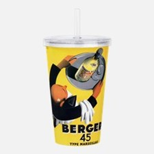 Vintage poster - Berge Acrylic Double-wall Tumbler