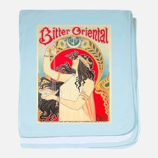 Vintage poster - Bitter Oriental baby blanket