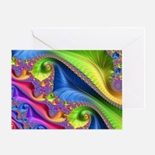 Cool Fractal vicky Greeting Card