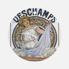 Vintage poster - Bleu Deschamps Round Ornament