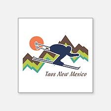 """Unique Taos skiing Square Sticker 3"""" x 3"""""""