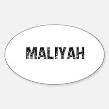 Maliyah Oval Decal