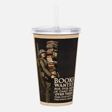 Vintage poster - Books Acrylic Double-wall Tumbler