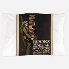 Vintage poster - Books Wanted Pillow Case