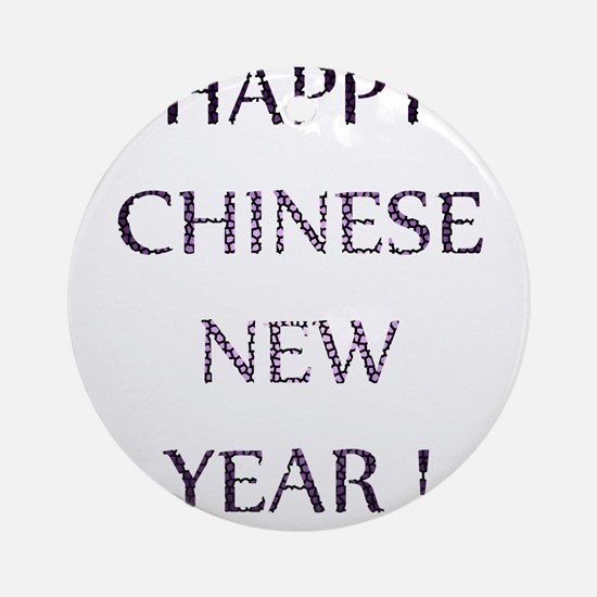 Happy Chinese New Year Round Ornament