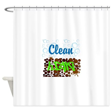 Clean And Dirty Shower Curtain