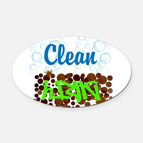 Clean and Dirty Oval Car Magnet