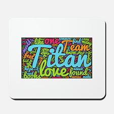 Team Titan Word Cloud Mousepad