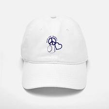 PEACE-LOVE-BASEBALL Baseball Baseball Cap