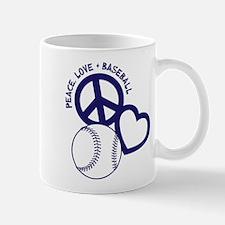 PEACE-LOVE-BASEBALL Mug