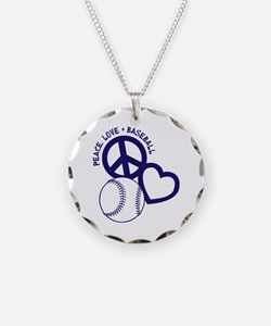 PEACE-LOVE-BASEBALL Necklace