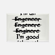 I'm an engineer funny typo good with math Magnets