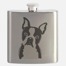 Cute Boston terriers Flask