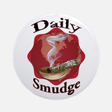 Daily Smudge Round Ornament