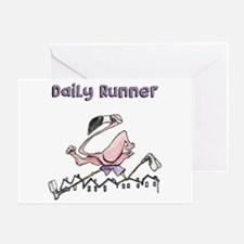 Flamingo Daily Runner Greeting Cards