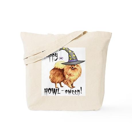 Halloween Pomeranian Tote Bag