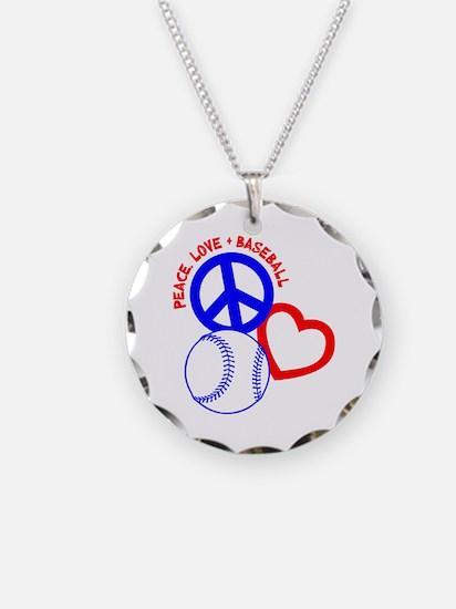 PEACE-LOVE-BASEBALL Necklace