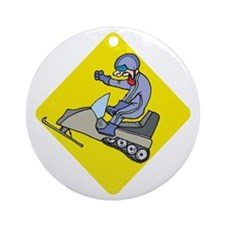 snowmobiling Ornament (Round)