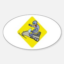 snowmobiling Oval Decal