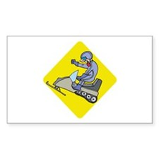 snowmobiling Rectangle Decal