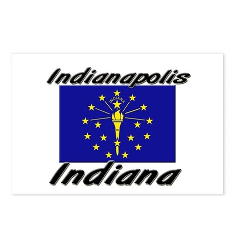 Indianapolis Indiana Postcards (Package of 8)