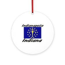 Indianapolis Indiana Ornament (Round)