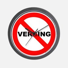 No Verbing Wall Clock