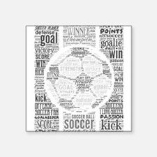"Soccer Word Art Square Sticker 3"" x 3"""