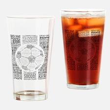 Soccer Word Art Drinking Glass