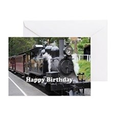 Cute Puffing billy Greeting Card