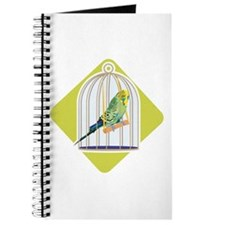 Parakeet in Bird Cage Journal