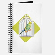 Parakeet in Bird Cage Journal
