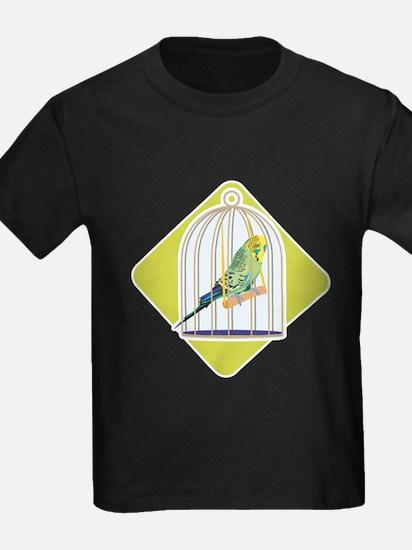 Parakeet in Bird Cage T
