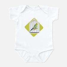 Parakeet in Bird Cage Infant Bodysuit