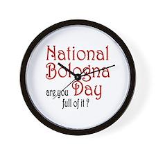 National Bologna Day Wall Clock