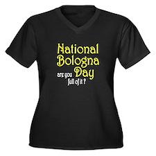 National Bologna Day Women's Plus Size V-Neck Dark