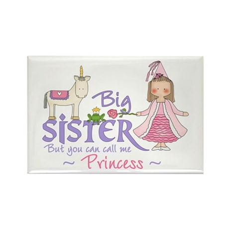 Unicorn Princess Big Sister Rectangle Magnet (10 p