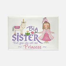 Unicorn Princess Big Sister Rectangle Magnet