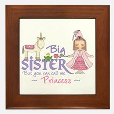 Unicorn Princess Big Sister Framed Tile