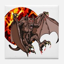 Bat From Hell Tile Coaster