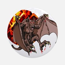 Bat From Hell Round Ornament