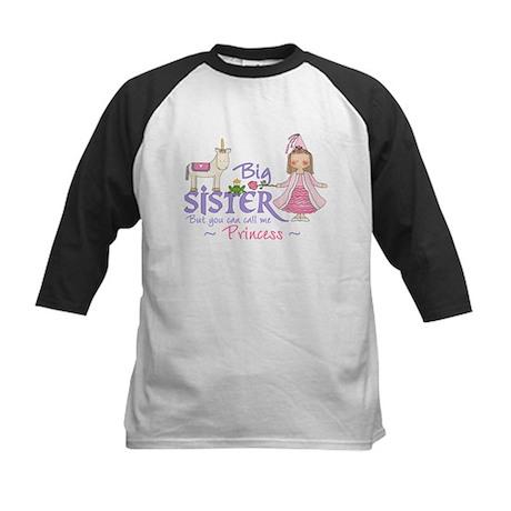 Unicorn Princess Big Sister Kids Baseball Jersey