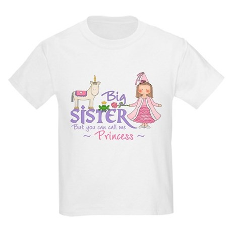 Unicorn Princess Big Sister Kids Light T-Shirt