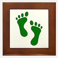 Green Feet Framed Tile